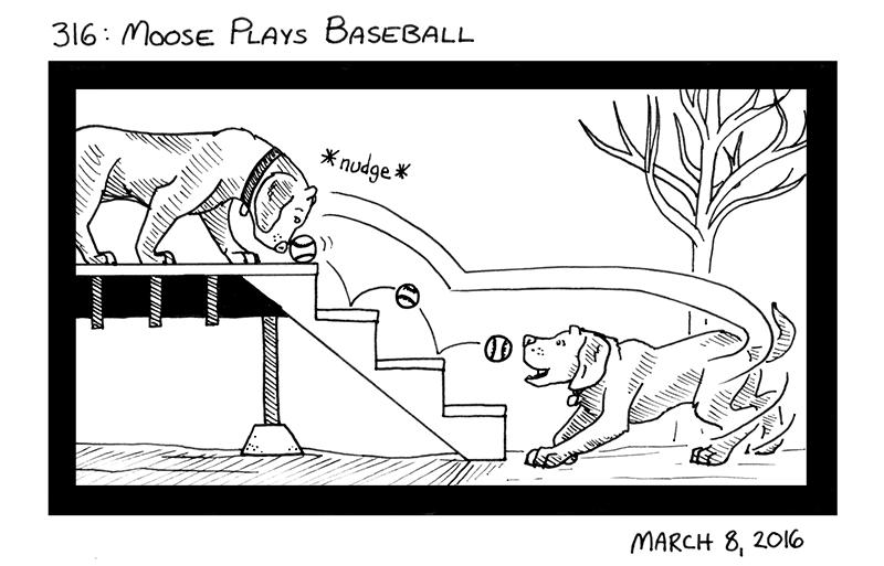 Moose Plays Baseball